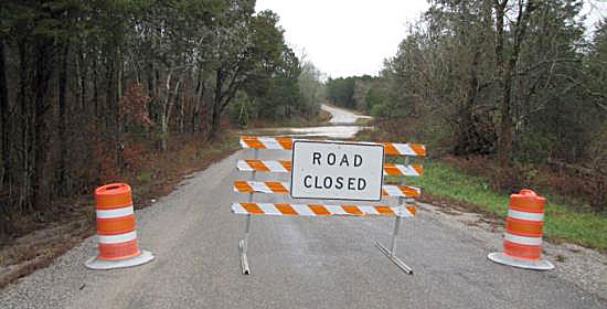 Brickyard Road partial closing until further notice