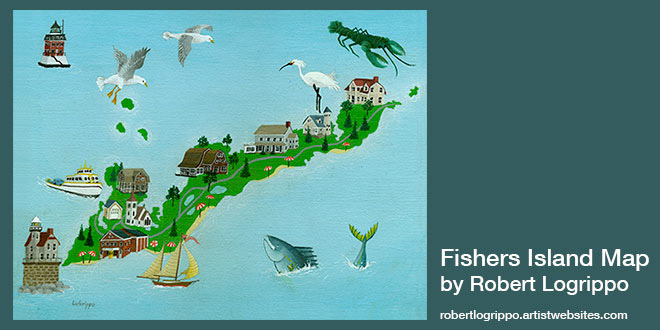 Fishers Island Map by Robert Logrippo FishersIslandnet