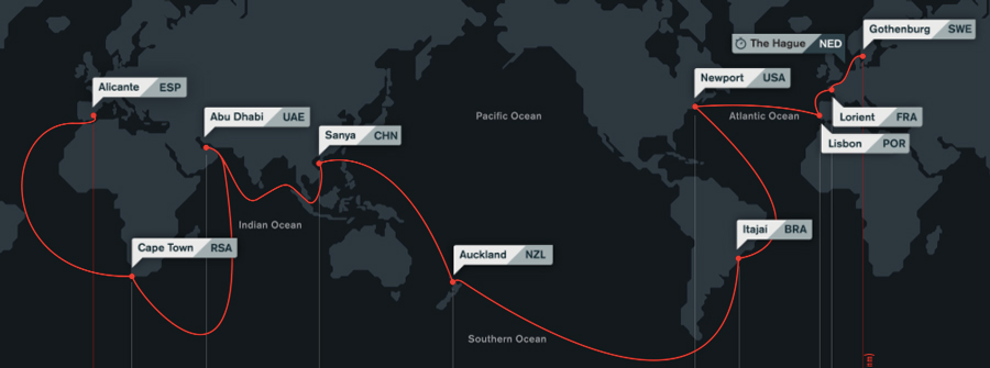 The Volvo Ocean Race starts on October 4, 2014 in Alicante, Spain with an in-port race.  Leg 1 from Alicante to Cape Town, South Africa starts on October 11
