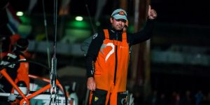 Leg 9 Lorient-Gothenburg > The Hague > The Netherlands. June 19, 2015 arrivals to the Pitstop in The Hague during Leg 9 to Gothenburg; Team Alvimedica. Photo by Victor Fraile