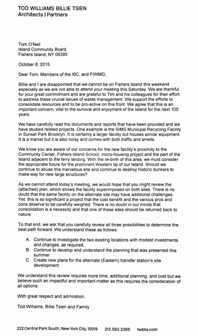 Williamstsien letter to icb and fi waste management fishersisland icb letter tod billie oct15 660x1121 spiritdancerdesigns Images