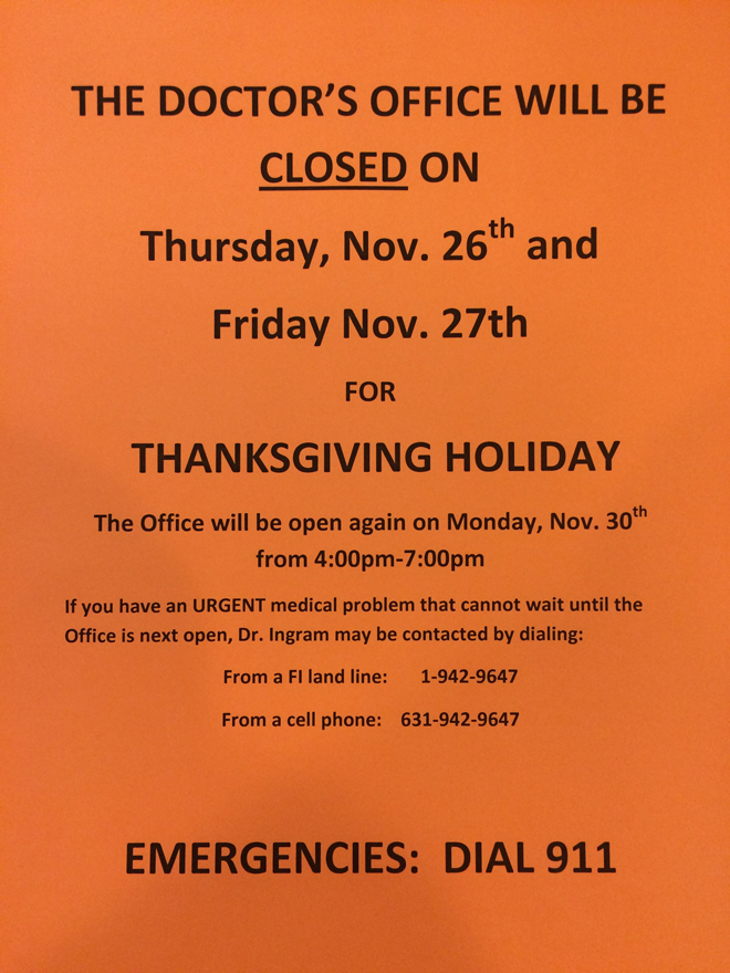 thanksgiving shops closed