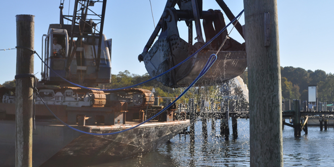 FIYC Dredging Work in West Harbor