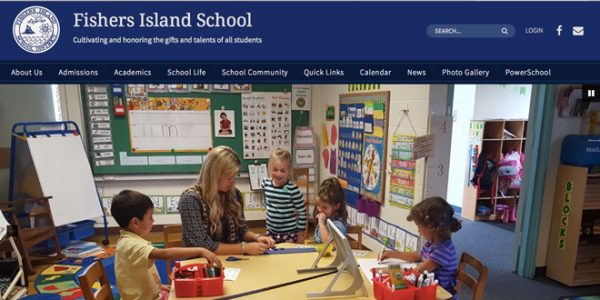 Fishers Island School launches new Website