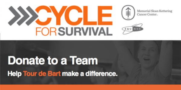 Join the Battle. Beat Rare Cancers: Support Tour de Bart