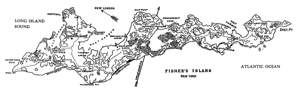 Fishers Island map