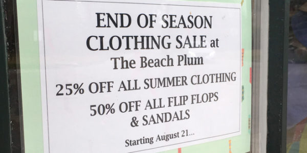 Beach Plum's End of Season Clothing Sale
