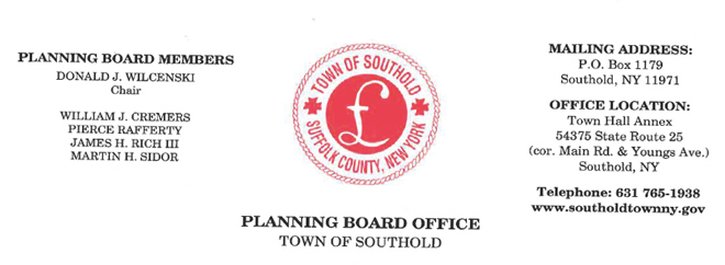 Southold Town Planning Board  Meeting Agendas