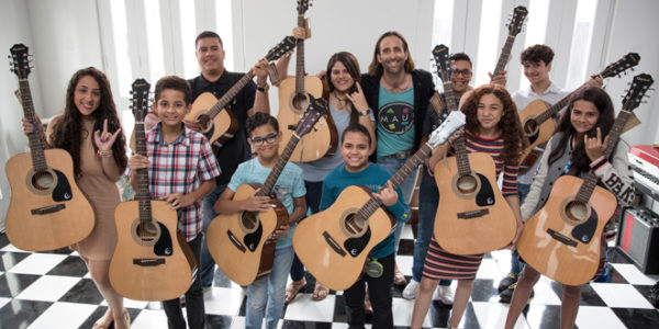 Burr's San Juan Sound Gifts Students with Instruments after Hurricane
