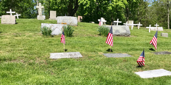 Flags honor Veterans at Grave Sites