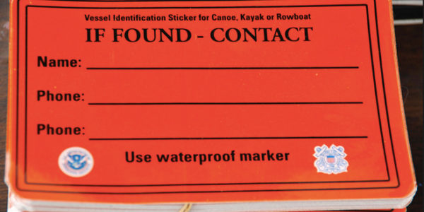Kayak and Paddle Board Safety Equipment and Vessel ID