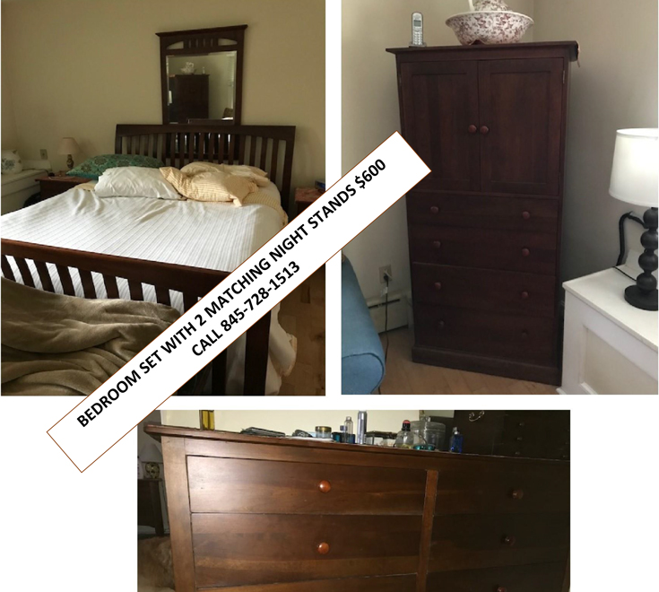 5 Piece Bedroom Set Including 2 Matching Night Stands $600.