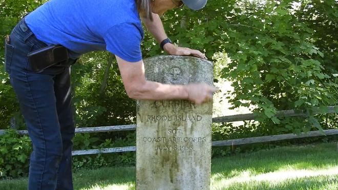 Cemetery Gravestone Cleaning