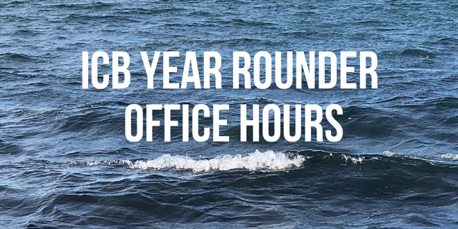 """Year-Rounder """"Office Hours"""" via ICB Zoom"""